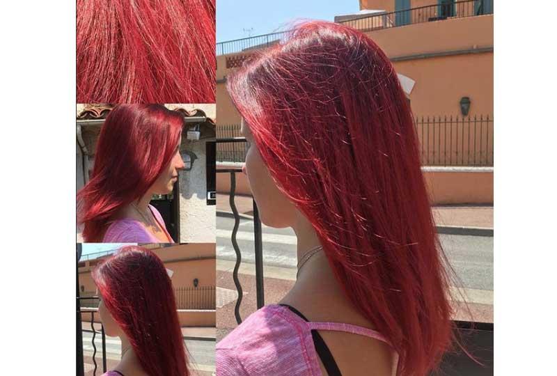 صبغة الشعر الأحمر
