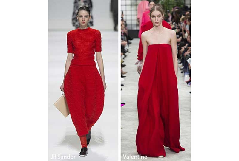 فستان أحمر داكن