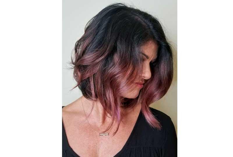ألوان صبغات الشعر اللون البني والبينك