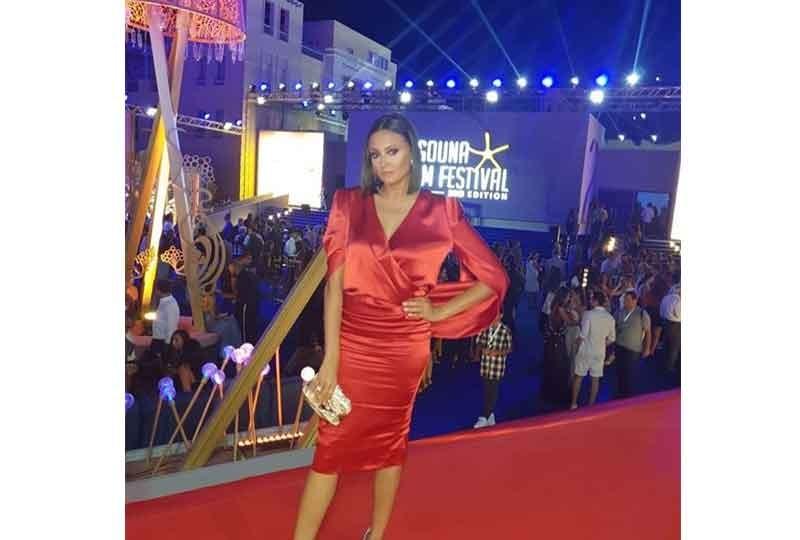 فستان بشرى في مهرجان الجونة