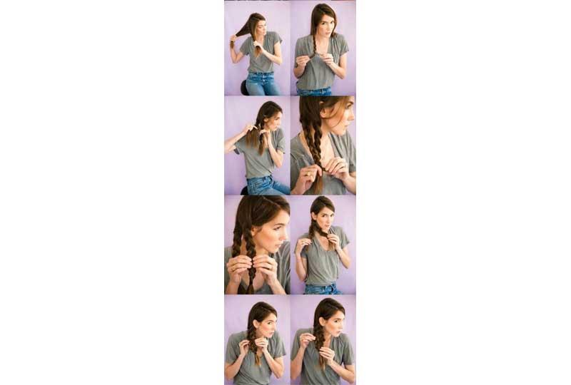 تسريحات شعر بسيطة تسريحة ضفيرة حورية البحر الجانبية