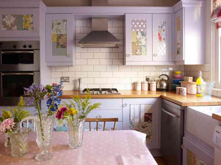 لون اللافندر مع تصميمات مميزة للمطبخ
