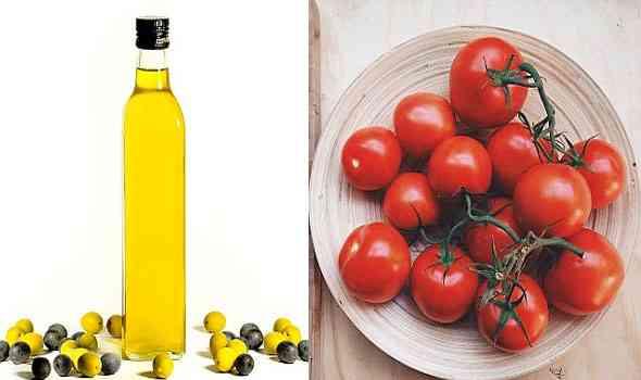 الطماطم وزيت الزيتون