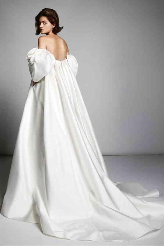 فساتين زفاف 2020 باكمام منفوخة