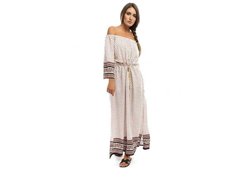 فستان طويل أوف وايت للبحر