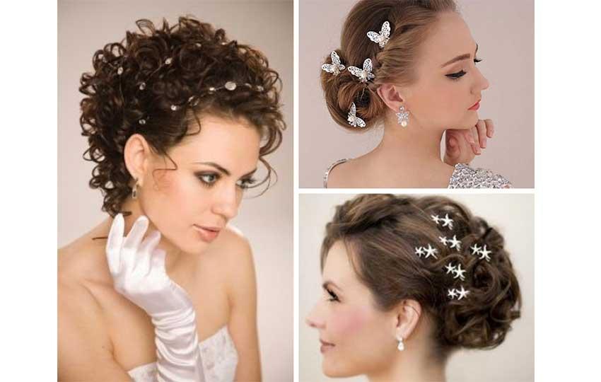 إكسسوارت شعر بسيطة للعروس