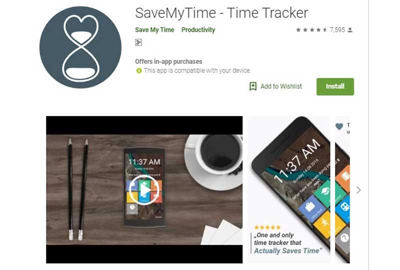 تطبيق save my time