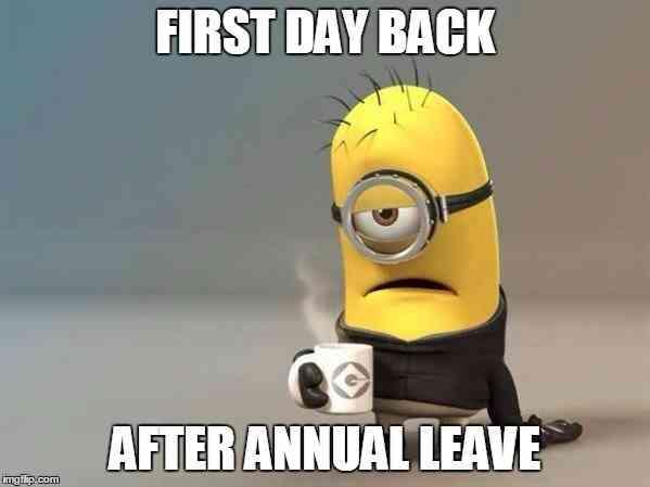 العودة للعمل بعد الإجازة