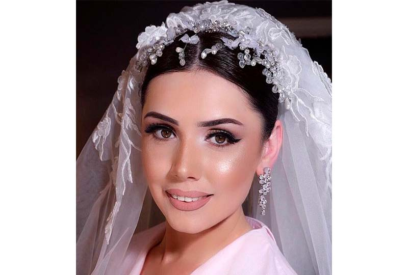 لفة حجاب عروسة