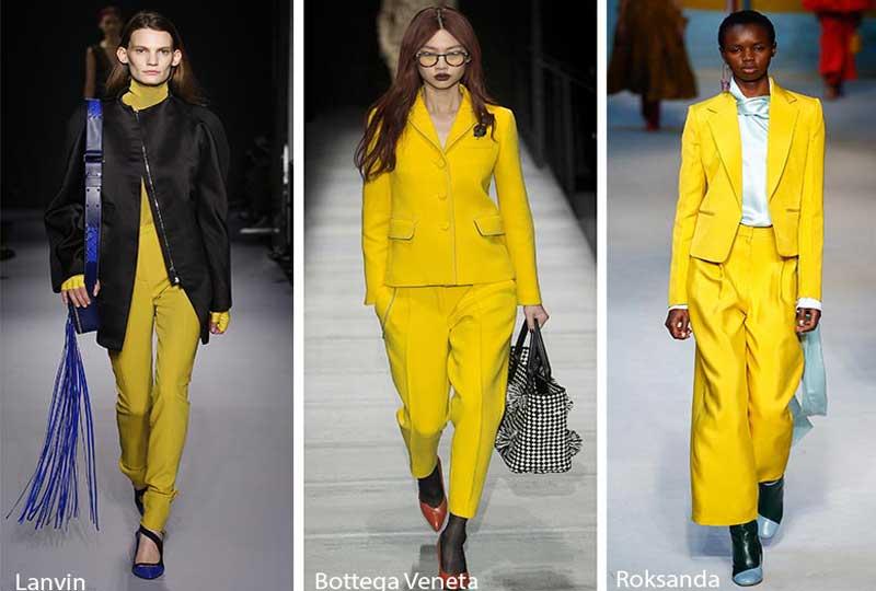 موضة ألوان شتاء 2019 اللون الأصفر الصريح