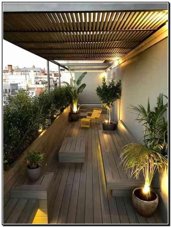 ديكورات بلكونة إضاءة السقف