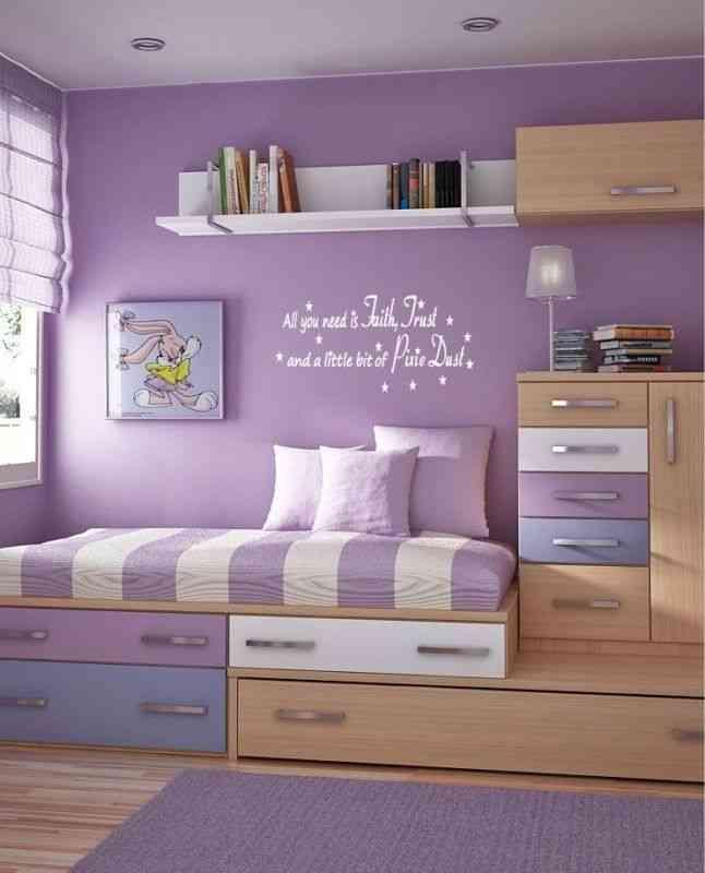 غرف أطفال باللون الموف