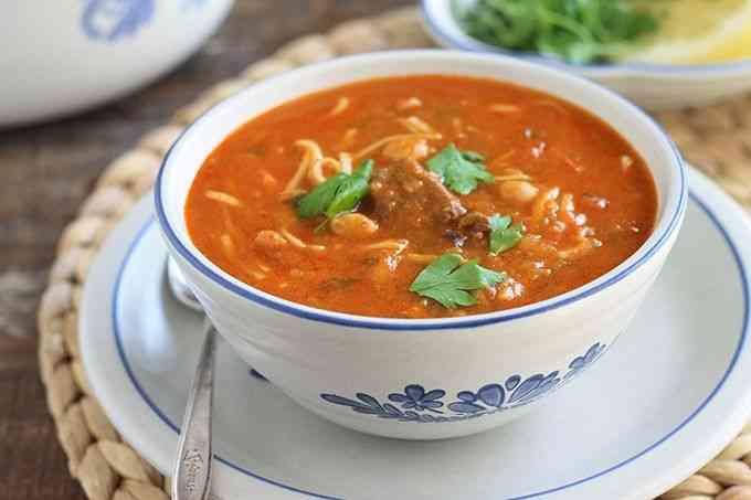 أكلات مغربية شوربة الحريرة