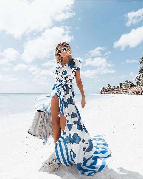 ملابس البحر فستان ماكسي طويل