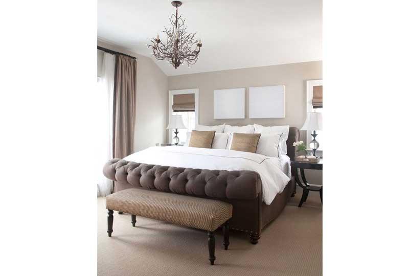 ألوان غرف نوم باللون البني