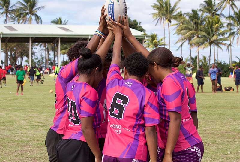 تمكين الفتيات بالرجبي في فيجي