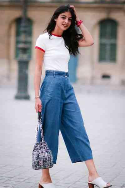 بنطلون واسع جينز