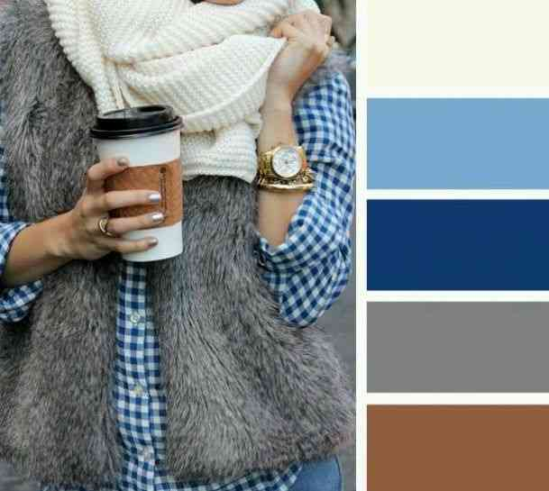 تناسق الألوان مع اللون الأزرق