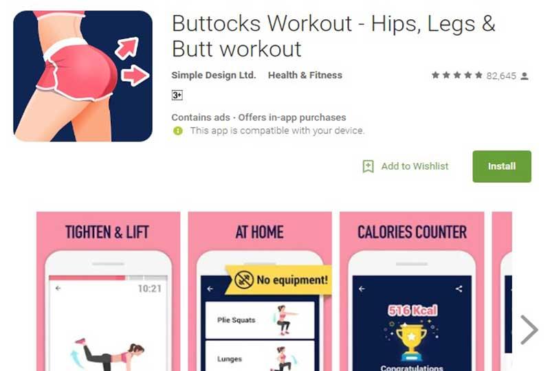 Buttocks Workout - Hips, Legs & Butt workout