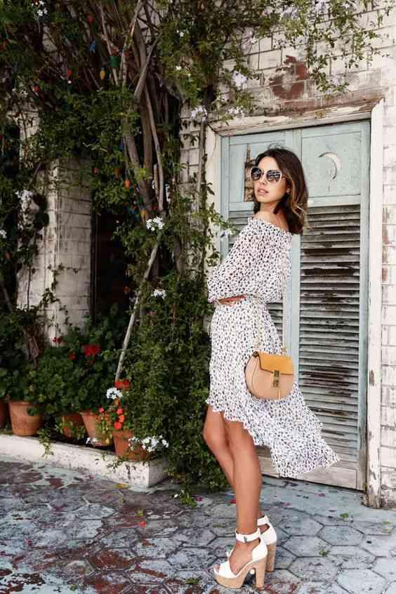 أنواع الفساتين فستان كاجوال قصير من الأمام طويل من الخلف