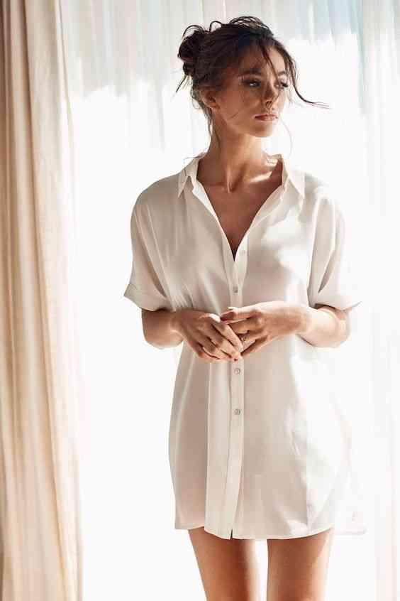 ملابس مريحة للمنزل قميص واسع