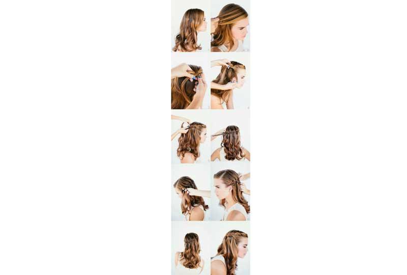تسريحات شعر بسيطة تسريحة الشلال الجانبية