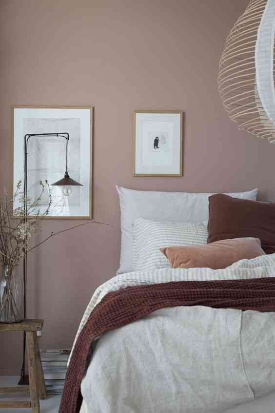ديكورات شقق صغيرة ألوان فاتحة لغرف النوم