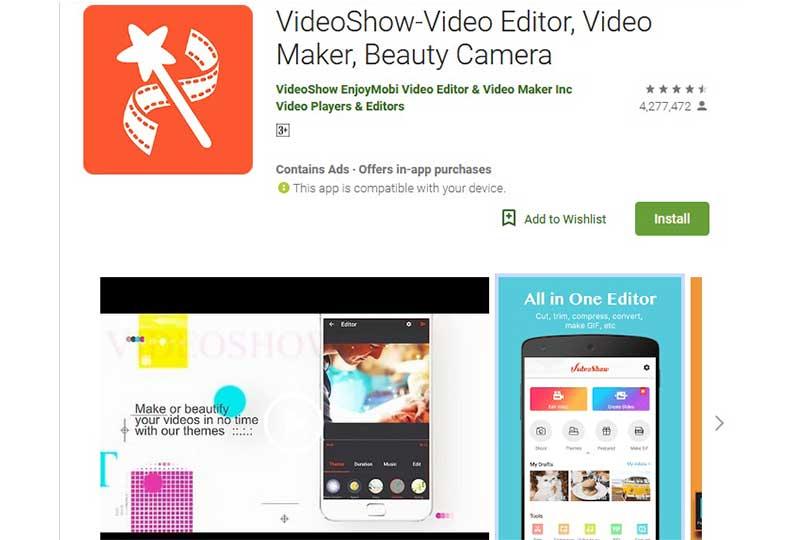 تطبيق videoshow