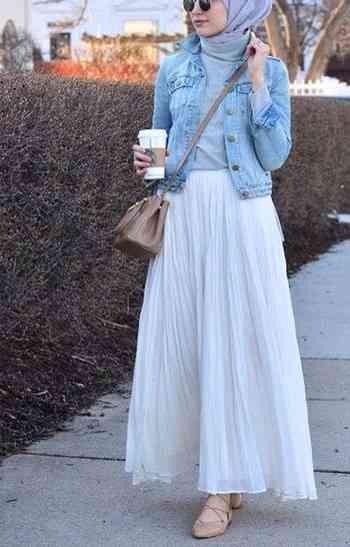 جاكت جينز قصير للمحجبات