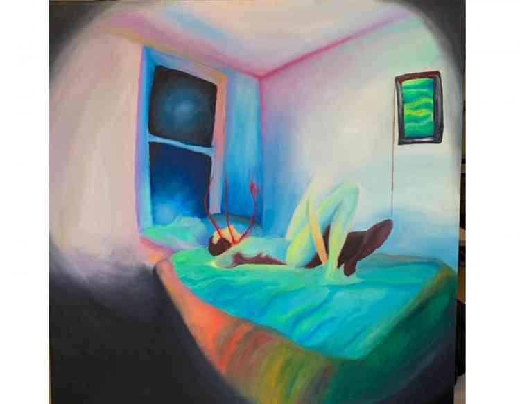 لوحة لي لي أحمد حلمي