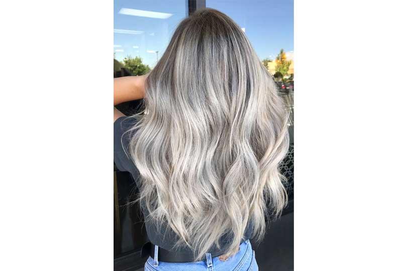 ألوان صبغات الشعر اللون البلاتيني الثلجي للشعر الطويل