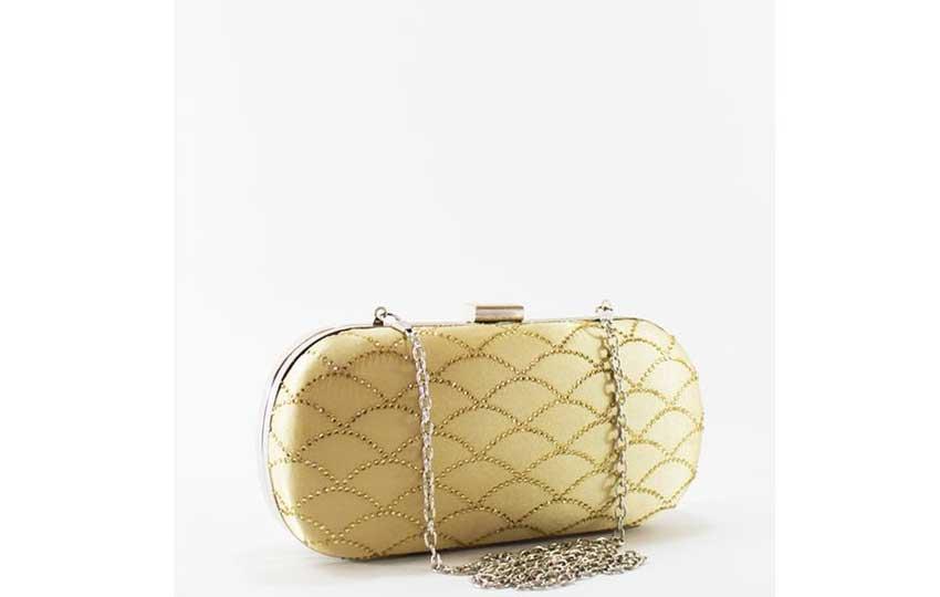 حقيبة المناسبات - حقيبة باللون الدهبي من مستر جو