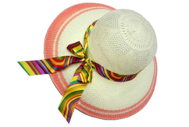 قبعة للبحر بشريط ستان