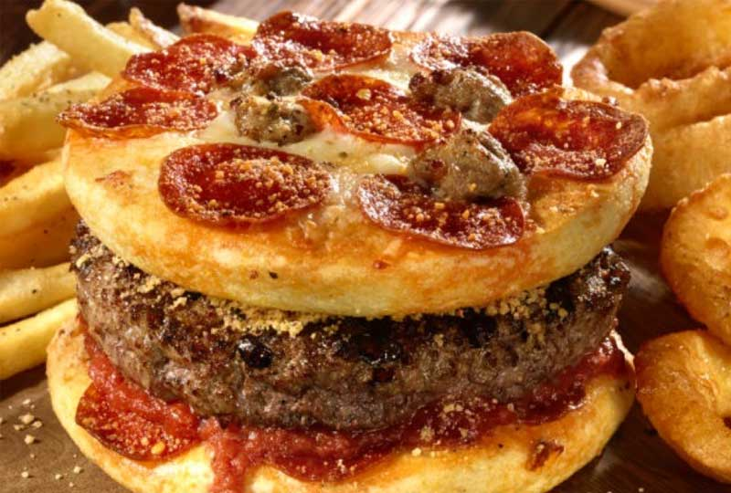 طريقة عمل البيتزا بيتزا برجر