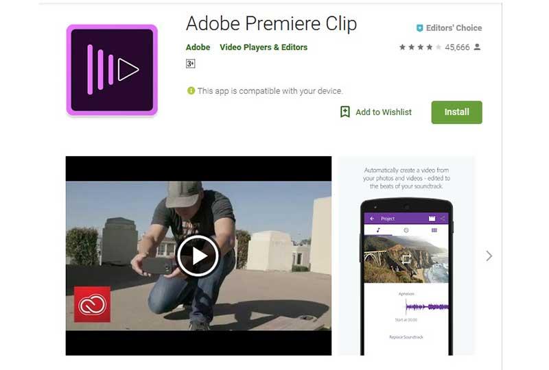 تطبيق Adobe Premiere