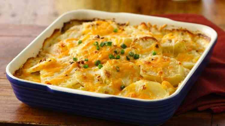 أكلات سريعة طريقة عمل البطاطس الجراتان