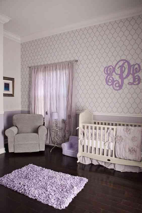 درجات اللون الموف في غرف الأطفال