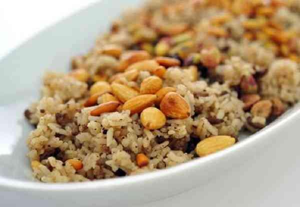 أرز بالكبد والقوانص