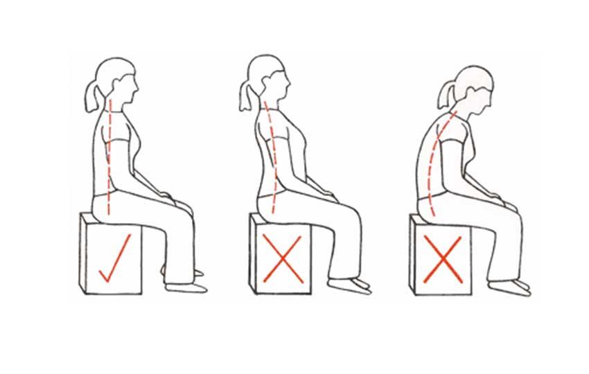 علاج ألآم الظهر - وضعيات الجلوس الصحيحة