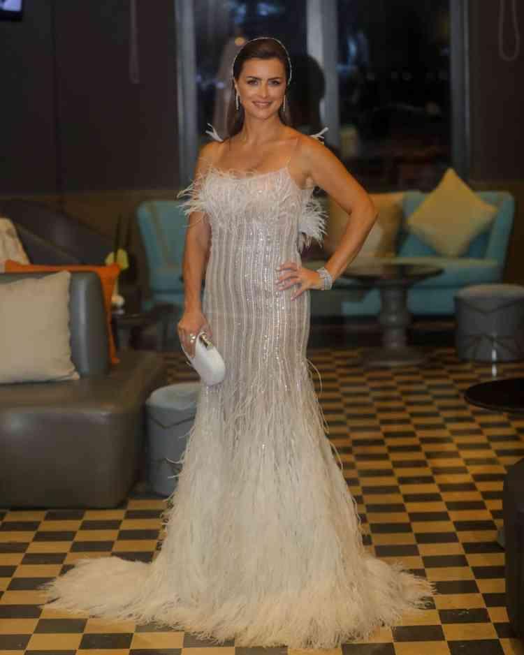 فستان نور اللبنانية من مهرجان الجونة 2019