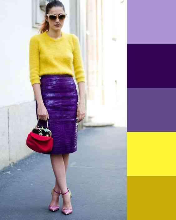 تنسيق اللون الأصفر في الملابس