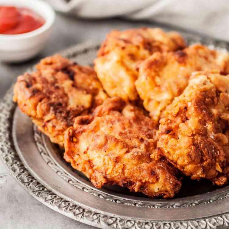 تتبيلة الدجاج المقلي