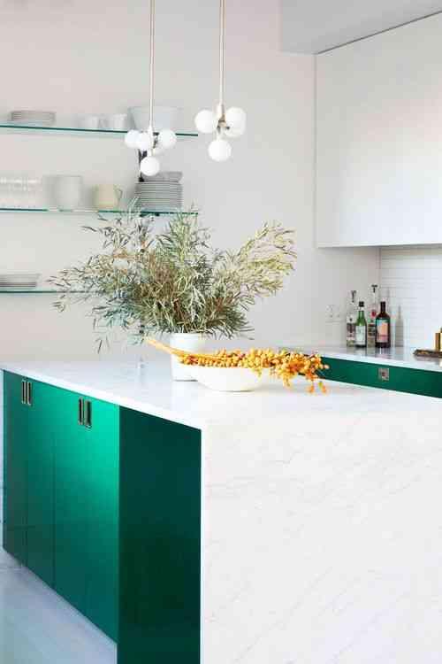 مطبخ الوميتال أخضر