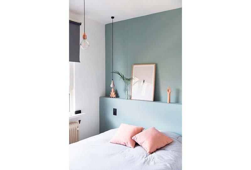 اللون اللبني في غرف النوم