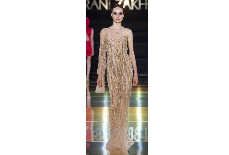 فساتين خطوبة بألوان النيود  من عرض أزياء راني زخيم هوت كوتور 2019