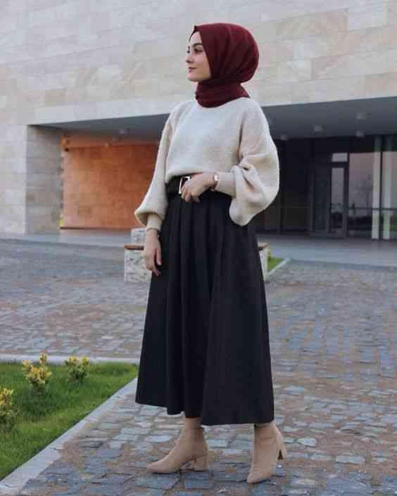 أزياء محجبات تركية تنورة وبلوفر