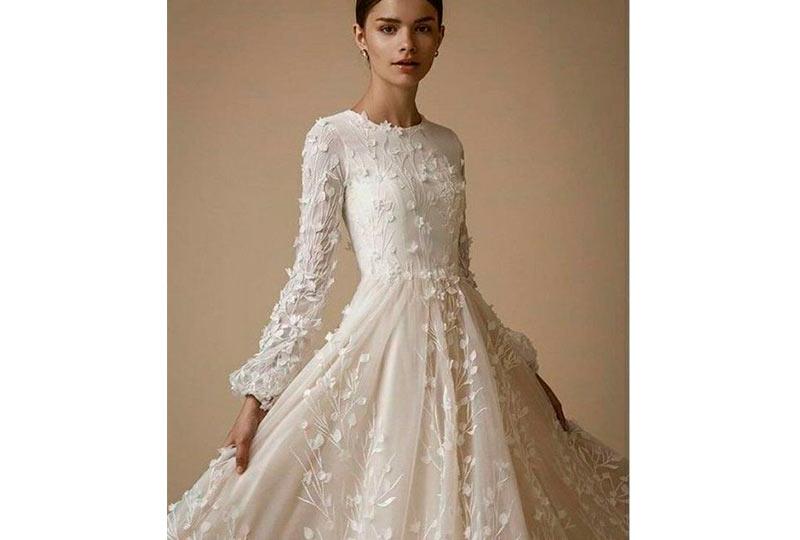 فستان زفاف كم واسع