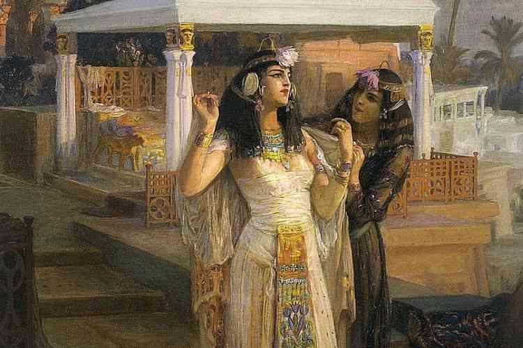 رسم تخيلي للملكة كليوباترا