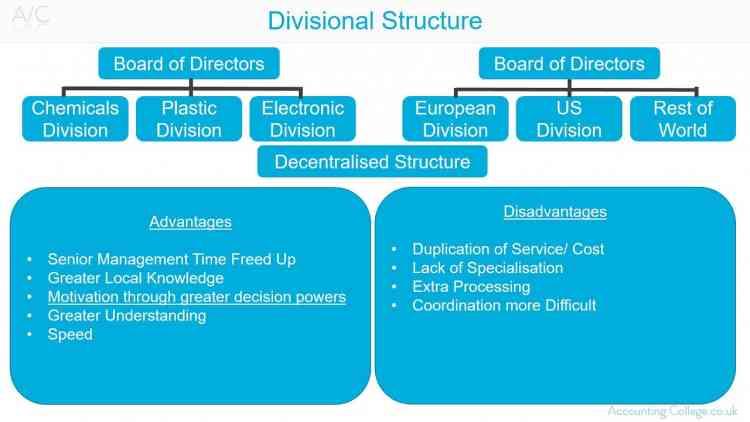 الهيكل القطاعي Divisional Structure