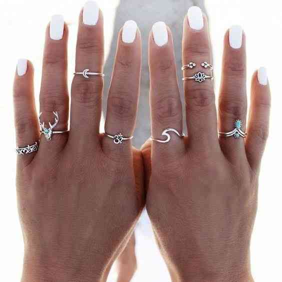 خواتم فضة لكل الأصابع